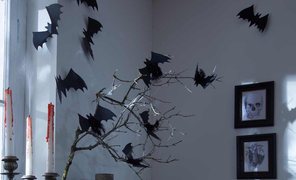 halloween papier fledermaus basteln. Black Bedroom Furniture Sets. Home Design Ideas