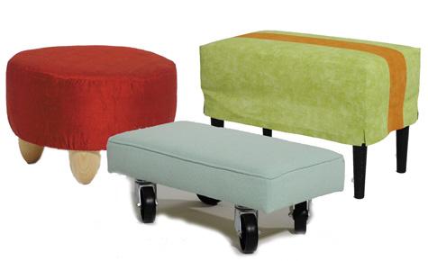7 individuelle Sitz-Hocker