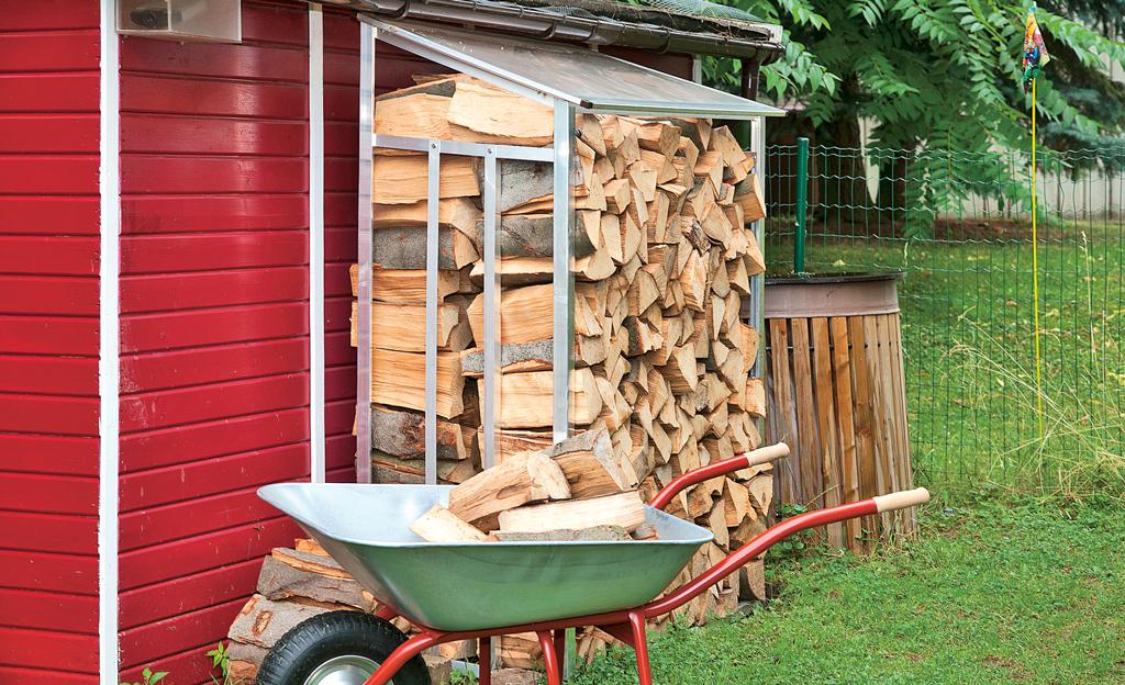 Brennholz-Regal bauen