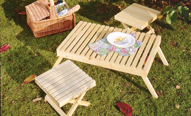 Picknicktisch bauen