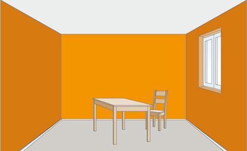 Raumgestaltung mit Farbe: Raumgröße verändern