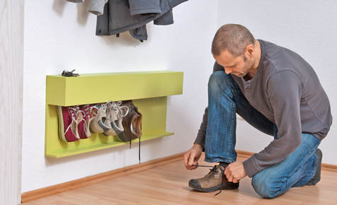Schuhregal bauen