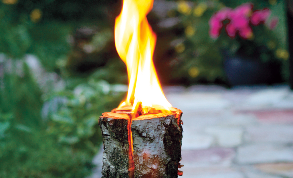 Schwedenfeuer selbst bauen
