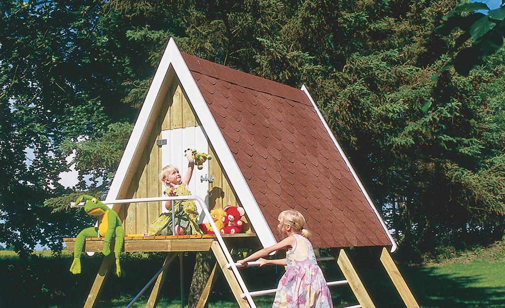 Spielhaus auf Stelzen bauen