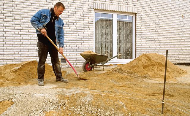 Solider Unterbau für Pflaster-Flächen