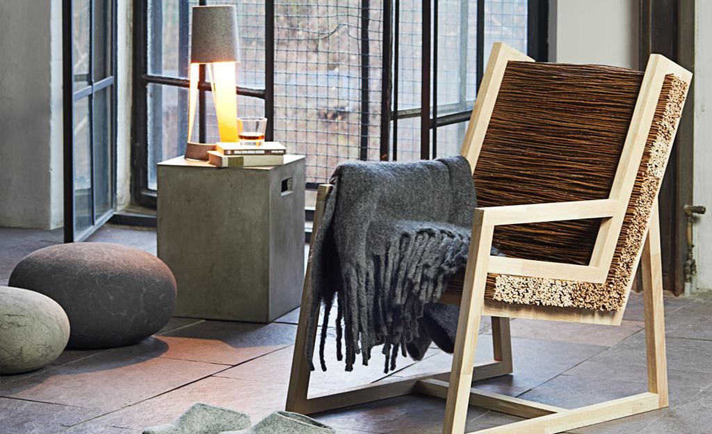 Stuhl aus Weidenruten