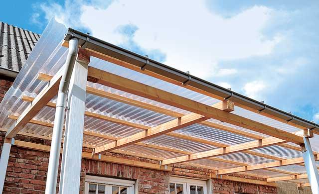 Terrassenüberdachung günstig selbst bauen