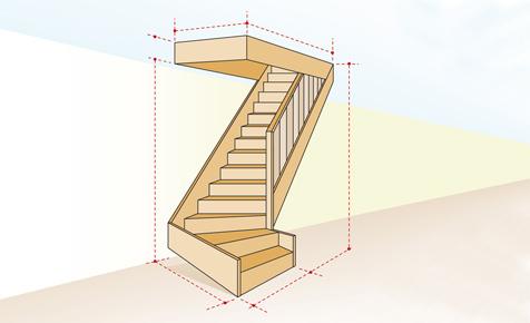 Treppenbau: Stufe, Wange, Steigung & Co.