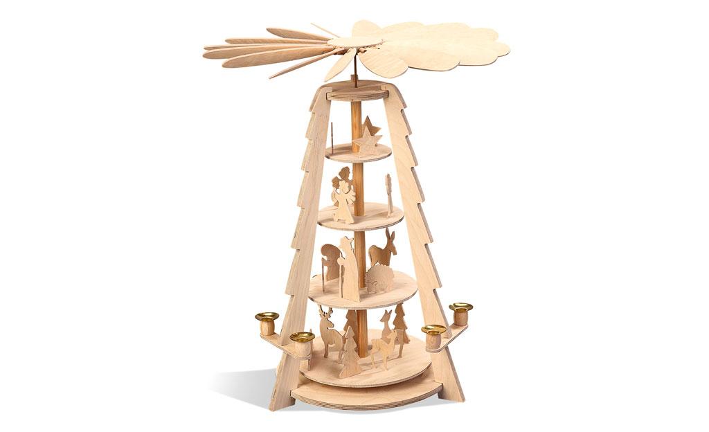 Bauplan: Weihnachtspyramide mit 4 Etagen