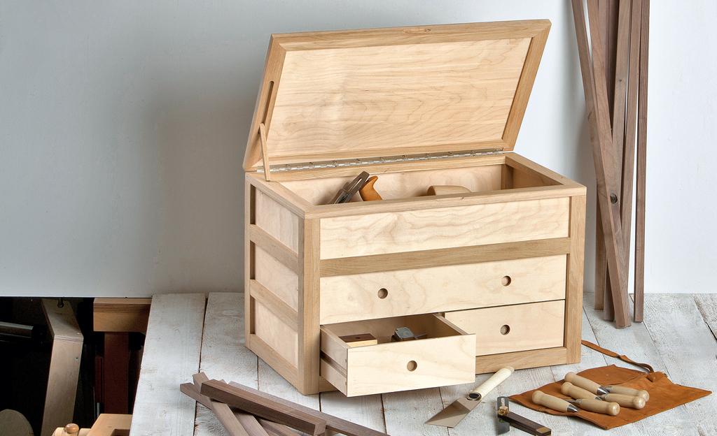 holz werkzeugkasten werkzeugschrank. Black Bedroom Furniture Sets. Home Design Ideas