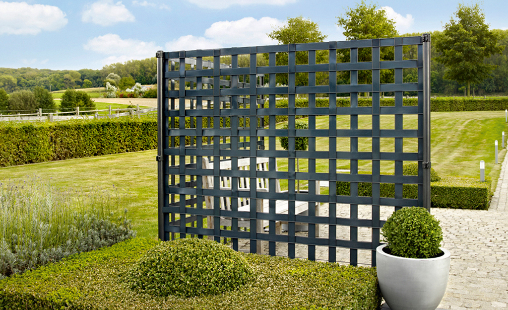 Sichtschutz: Gabionen-Zaun