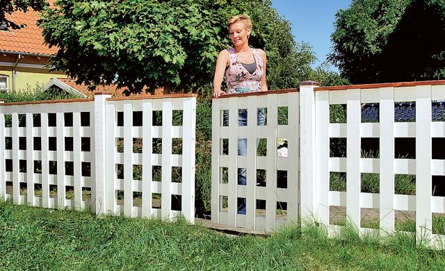 Gartenzaun mit Tor bauen