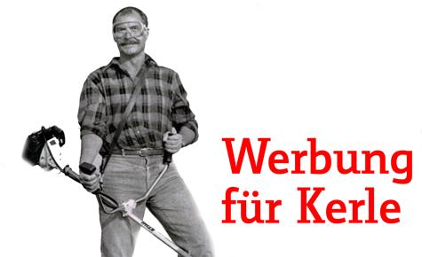 Heimwerker-Werbung für echte Kerle