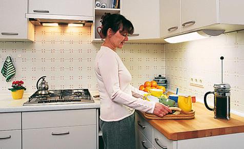 Licht in der Küche