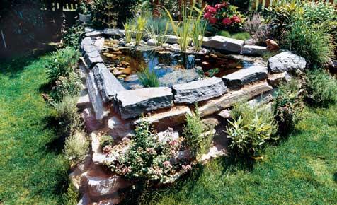 Hoch-Teich aus Naturstein anlegen
