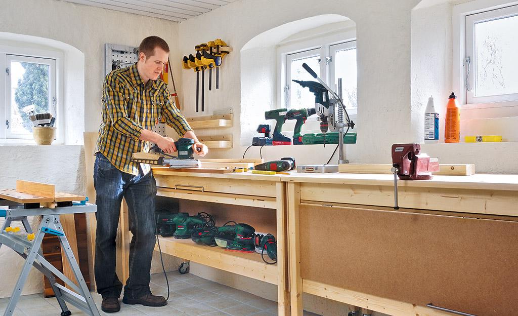 werkstatteinrichtung holzarbeiten m bel. Black Bedroom Furniture Sets. Home Design Ideas