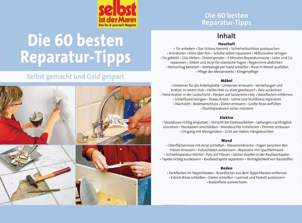 Die 60 besten Reparatur-Tipps