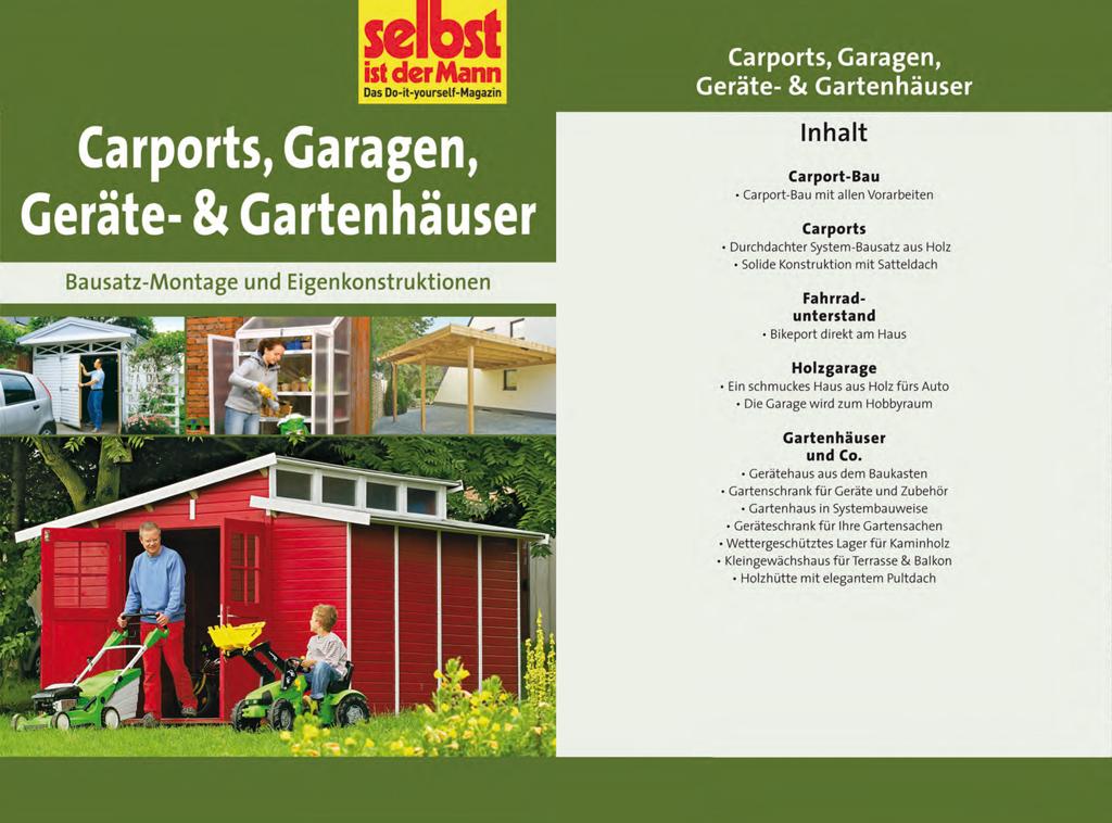 Carports, Garagen, Geräte- & Gartenhäuser