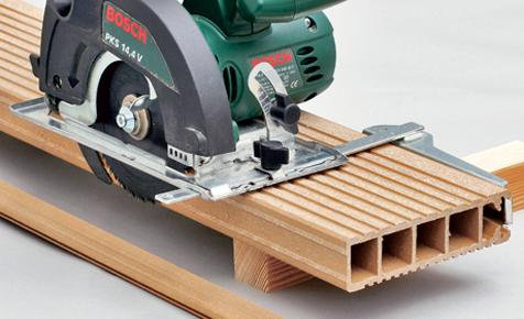 Pflege von WPC Terrassen len Holzterrasse