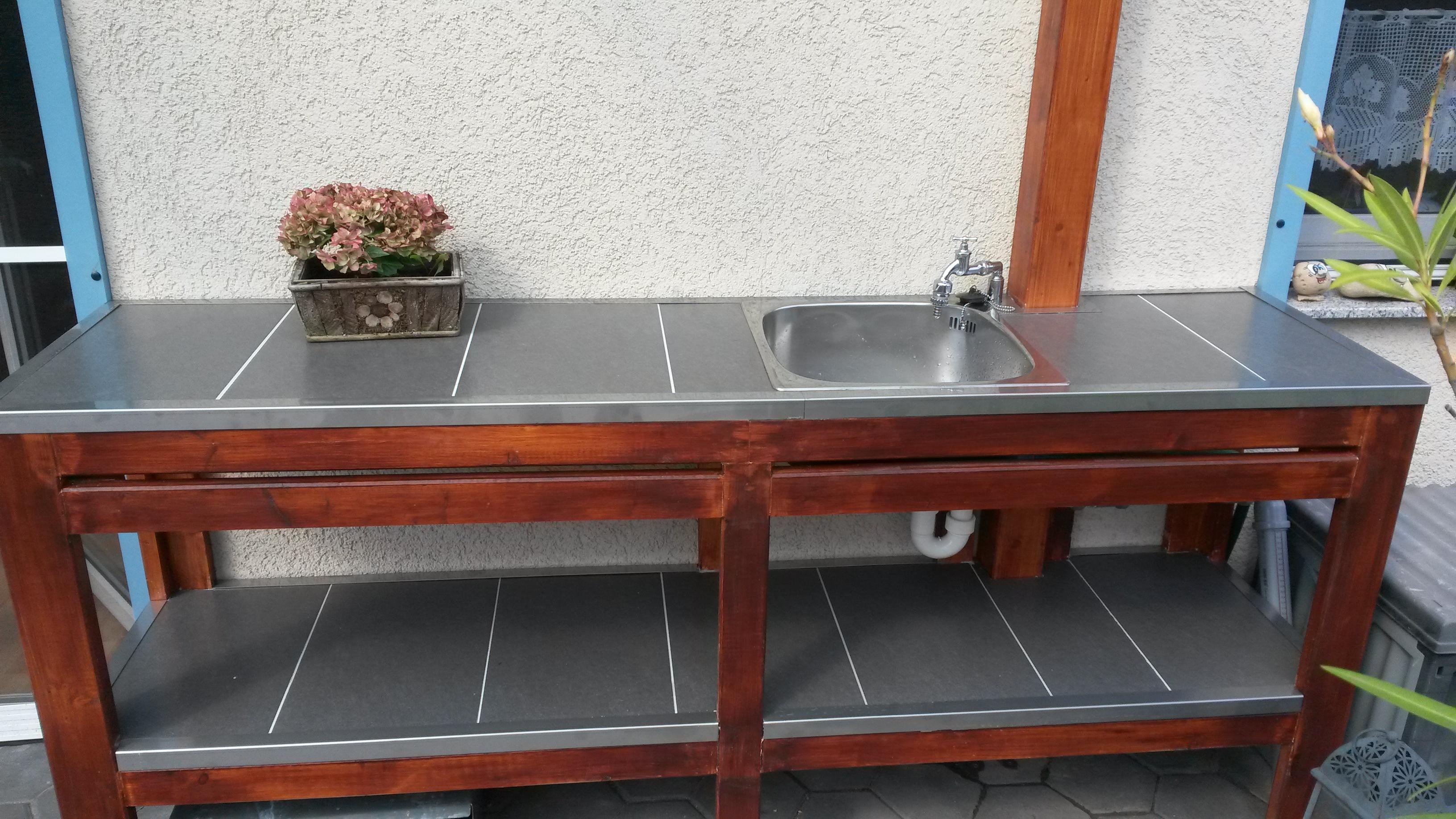 Außenküche Selber Bauen Holz : Userprojekt garten & balkon selbst.de