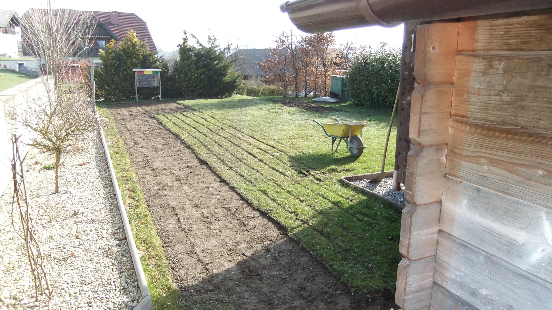 Neuer Rasen wird angelegt