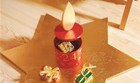 Adventskalender-Kerze