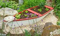 Hochbeet-Boot bauen