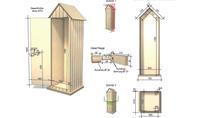Holz-Gartenschrank Zeichnung