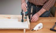 3D Puzzle: Holzplatten leimen