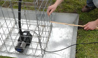 Wasserspiel: Gabionen-Brunnen
