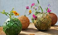 Efeu-Vase lackieren