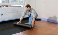 Fußbodenheizung: Feuchtigkeitssperre