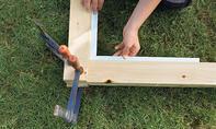 Fußballtor selber bauen: Eckverbindung herstellen