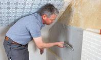 Innendämmung: Klebemörtel auftragen