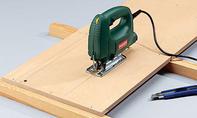 Küchenpapierhalter: Aussschnitte markieren