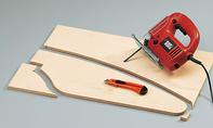 Laufrad: Rahmenbretter schneiden