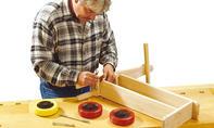 Roller bauen: Sicherungsmutter festziehen