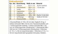 Roller bauen: Materialliste