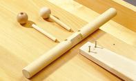 Roller bauen: Löcher für Hörner