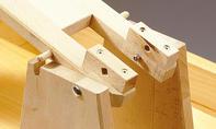 Roller bauen: Achse mit Sicherungsmutter