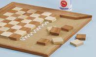 Schach-Spielbrett: Steine verleimen