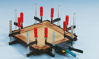 Schach-Spielbrett: Rahmenleisten verleimen