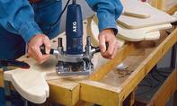 Schaukelpferd bauen: Lehne anschrägen