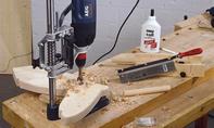 Schaukelpferd bauen: Griffstange ablängen