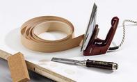 Schreibtisch: Umleimer aufbügeln