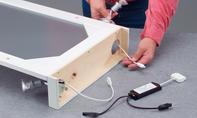 Spiegel Beleuchtung: Holzkranz streichen