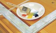 Spiegelrahmen: Farben mischen