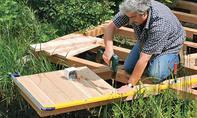 Holzdielen verschrauben
