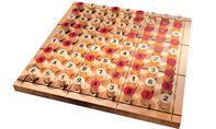 Sudoku Brettspiel: fertiges Spielfeld