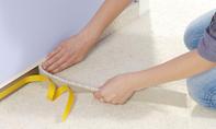 Teppichstreifen aufkleben